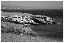 Black Point on windy day, Santa Rosa Island. Channel Islands National Park ( black and white)