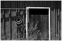 Barn door detail, Santa Rosa Island. Channel Islands National Park ( black and white)