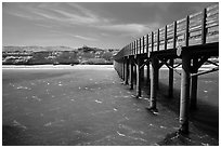 Pier, Bechers Bay, Santa Rosa Island. Channel Islands National Park ( black and white)