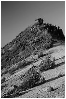 Mount Scott summit and fire lookout. Crater Lake National Park ( black and white)