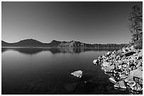 Cleetwood Cove, morning. Crater Lake National Park ( black and white)