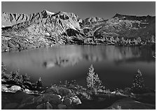 Woods Lake, late afternoon. Kings Canyon National Park ( black and white)