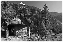 Knapps Cabin. Kings Canyon National Park ( black and white)