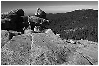 Granite slabs, Buena Vista. Kings Canyon National Park ( black and white)