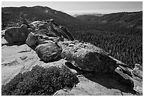 Redwood Canyon seen from Buena Vista. Kings Canyon National Park ( black and white)