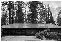Grant Grove Visitor Center. Kings Canyon National Park ( black and white)