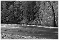 Stream near Gorge Lake, North Cascades National Park Service Complex.  ( black and white)