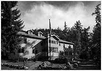 Golden West Visitor Center, Stehekin, North Cascades National Park Service Complex.  ( black and white)