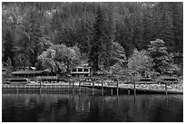 Stehekin Landing, North Cascades National Park Service Complex.  ( black and white)