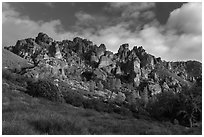 Pinnacles from West side. Pinnacles National Park ( black and white)