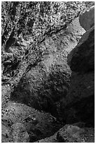 Rocks, Balconies Cave. Pinnacles National Park ( black and white)