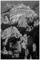 Balconies and Machete Ridge. Pinnacles National Park ( black and white)