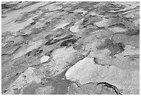 Eroded granite slabs, Canyon of the Tuolumne. Yosemite National Park ( black and white)