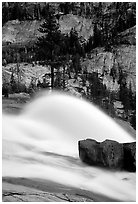 Waterwheel at dusk, Waterwheel falls. Yosemite National Park ( black and white)