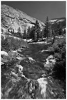 Merced River, Upper Merced River Canyon. Yosemite National Park ( black and white)