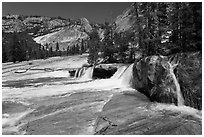 Cascade, Upper Merced River Canyon. Yosemite National Park ( black and white)