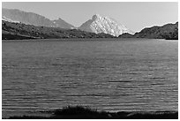 Roosevelt Lake and Ragged Peak. Yosemite National Park ( black and white)