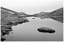 Roosevelt Lake at dawn. Yosemite National Park ( black and white)