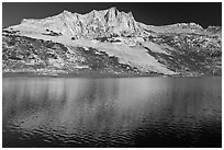 Sheep Peak and  Roosevelt Lake. Yosemite National Park ( black and white)