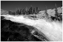 Le Conte falls of the Tuolumne River. Yosemite National Park ( black and white)