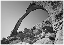 Landscape Arch, morning. Arches National Park ( black and white)
