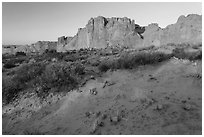 Great Wall at sunrise. Arches National Park ( black and white)