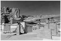 Visitor Center. Arches National Park ( black and white)
