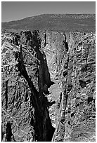 The Narrows, North Rim. Black Canyon of the Gunnison National Park ( black and white)