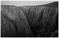 Painted wall from Chasm view at dawn, North Rim. Black Canyon of the Gunnison National Park ( black and white)