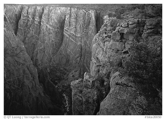 painted wall from Chasm view, North rim. Black Canyon of the Gunnison National Park, Colorado, USA.