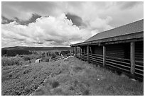 Visitor center. Black Canyon of the Gunnison National Park, Colorado, USA. (black and white)
