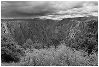Approaching storm, Tomichi Point. Black Canyon of the Gunnison National Park ( black and white)