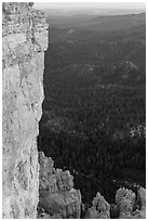Cliffs near Yovimpa Point. Bryce Canyon National Park ( black and white)