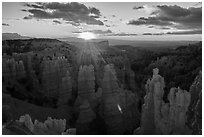 Sunrise, Fairyland Point. Bryce Canyon National Park ( black and white)