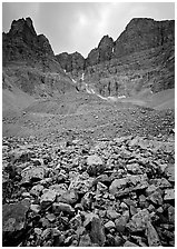 Wheeler Peak Glacier, the lowest in latitude in the US. Great Basin National Park ( black and white)