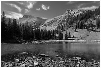 Mt Wheeler above Stella Lake. Great Basin National Park ( black and white)