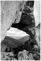 Lexington Arch, afternoon. Great Basin National Park, Nevada, USA. (black and white)
