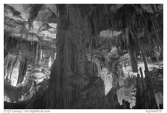Tall columns in Lehman Cave. Great Basin National Park, Nevada, USA.