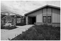Great Basin Visitor Center. Great Basin National Park ( black and white)