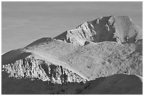 Wheeler Peak seen from the South, morning. Great Basin National Park ( black and white)