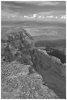 Cliffs beneath Mt Washington and Spring Valley, morning. Great Basin National Park ( black and white)