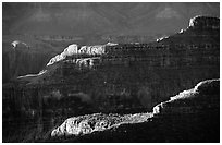 Ridges from Bright Angel Point, sunrise. Grand Canyon National Park ( black and white)
