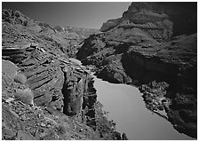 Colorado River between Tapeats Creek and Deer Creek. Grand Canyon  National Park ( black and white)