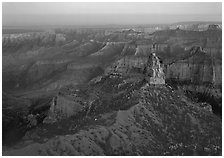 Mount Hayden from Point Imperial, sunset. Grand Canyon National Park ( black and white)
