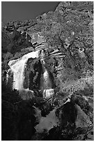 Thunder river upper waterfall. Grand Canyon National Park ( black and white)