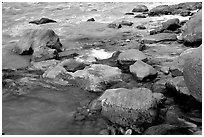 Rocks at  confluence of Tapeats Creek and  Colorado River. Grand Canyon National Park ( black and white)