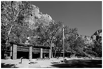 Zion lodge. Zion National Park ( black and white)