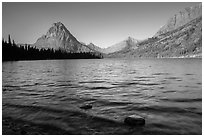 Two Medicine Lake. Glacier National Park ( black and white)