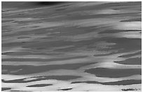 Pattern of snow over dunes. Great Sand Dunes National Park, Colorado, USA. (black and white)