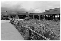 Visitor center. Great Sand Dunes National Park and Preserve ( black and white)